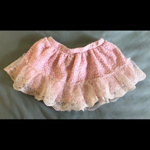 🎈 2/$12 JUICY COUTURE Baby Pink Ruffle Skirt 12M